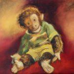 Äffchen Gemälde Öl auf Leinwand