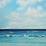 Strand Welle Meer Wolken Acryl auf Leinwand