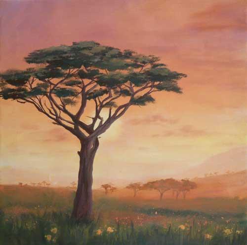sunset sonnenuntergang malen mit acryl